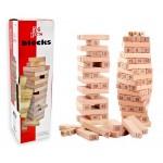 Башня 54 детали деревянная с цифрами и игральными ..