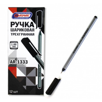 Ручка чёрная шариковая на масл. основе т..