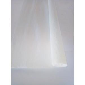 Гофрированная бумага плотная (флористическая 50мм х 250 мм,120 г/м2) БЕЛАЯ