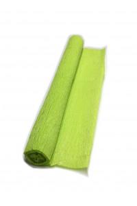 Гофрированная бумага плотная (флористическая 50мм х 250 мм,120 г/м2) ЗЕЛЁНОЕ ЯБЛОКО