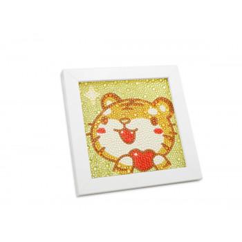 Алмазная мозаика 15 х 15, 1 дизайн, полная выкладк..