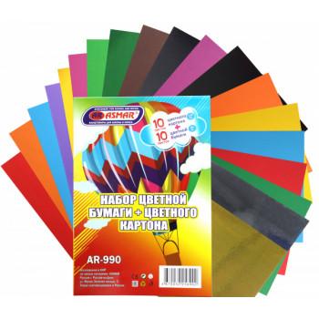 Цветной  картон А4  10 листов   + цветна..