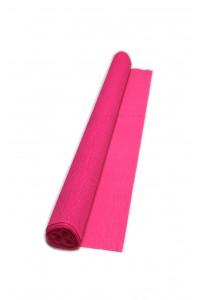 Гофрированная бумага плотная (флористическая 50мм х 250 мм,120 г/м2), фуксия, ШК