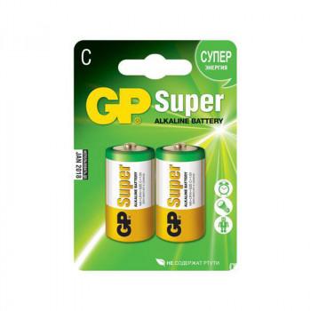 Батарейка LR14 GP Super Alkaline 14A BC2..