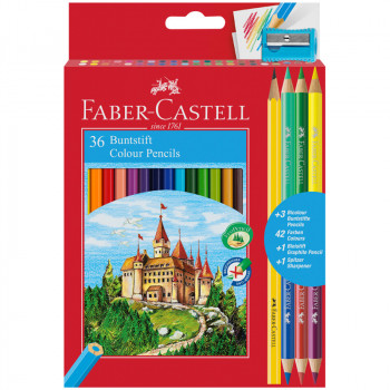 Карандаши цветные Faber-Castell, 36цв.+4, заточен...