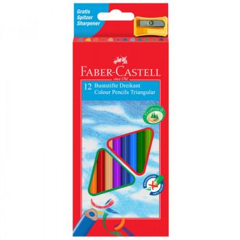 Карандаши цветные Faber-Castell 12цв., трехгран., ..