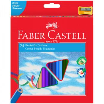 Карандаши цветные Faber-Castell 24цв., трехгран., ..
