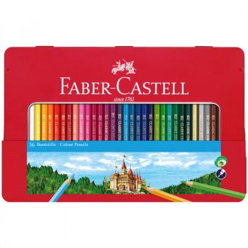 Карандаши цветные Faber-Castell, 36цв., заточен., ..