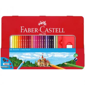 Карандаши цветные Faber-Castell, 48цв.+4, заточен...