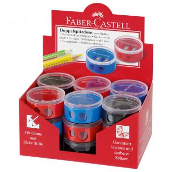 Точилка пластиковая Faber-Castell, 2 отв..