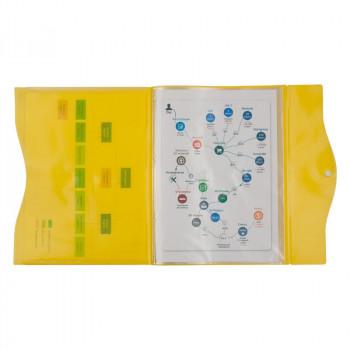 Папка на кнопке, 5 файлов, A4, желтая AX..
