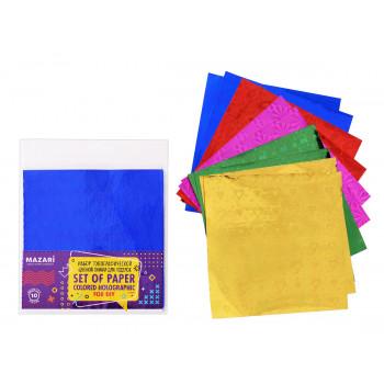 Набор голографической цветной бумаги для..
