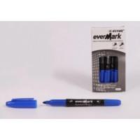 Маркер двухсторонний тонкий (аналог PY1082) синий