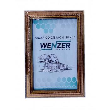 290 Фоторамка пластик 10х15 ( золото ) WENZER OFFi..