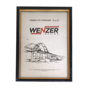584 Фоторамка пластик 15х21 (бирюза) WENZER OFFiCE..