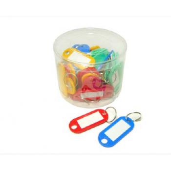 Брелок для ключей 50шт цветн, 5см, в пл ..