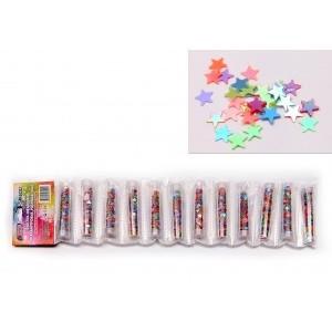 Блестки-звездочки перламутровые,разноцветные для  декоративных работ, в тубах. (12)