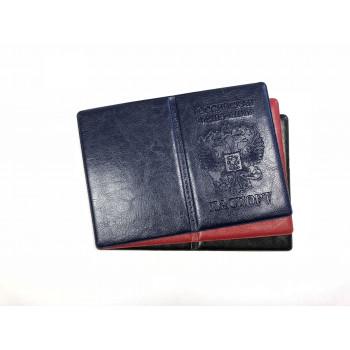 Обложка для паспорта ПВХ  с блинт. тесне..
