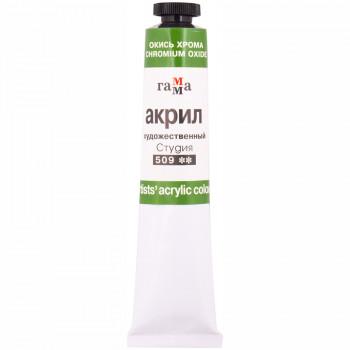 Акрил худ.ОКИСЬ ХРОМА 46мл Гамма..