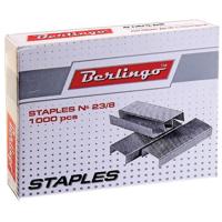 Скобы для степлера №23/8, оцинкованные, 1000 шт. (BERLINGO) (Китай) (20/240)