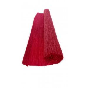 Гофрированная бумага плотная (флористическая 50мм х 250 мм,120 г/м2) БОРДОВАЯ