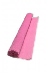 Гофрированная бумага плотная (флористическая 50мм х 250 мм,120 г/м2), светло-розовая, ШК