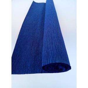 Гофрированная бумага плотная (флористическая 50мм х 250 мм,120 г/м2) ТЁМНО-СИНЯЯ
