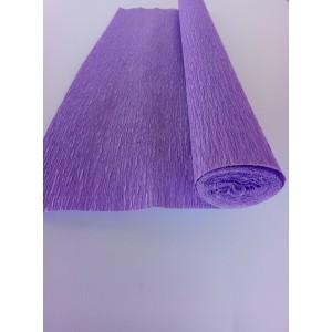 Гофрированная бумага плотная (флористическая 50мм х 250 мм,120 г/м2) СИРЕНЕВАЯ
