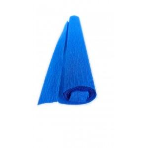 Гофрированная бумага плотная (флористическая 50мм х 250 мм,120 г/м2) СИНЯЯ