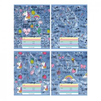 Тетрадь школьная А5 скоба 12л. клетка