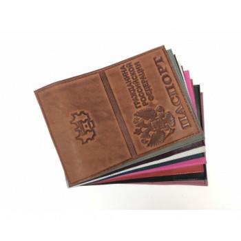 Обложка на паспорт из нат. кожи краст ти..