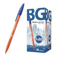 """Ручка шариковая 0.7 мм """"B-301 orange"""", синий, картонная коробка BG (50)"""