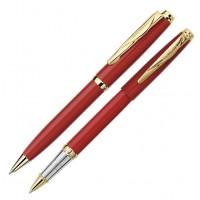 Набор: ручка шариковая + роллер Pierre Cardin PEN and PEN. Корпус - латунь с лакированным покрытием.