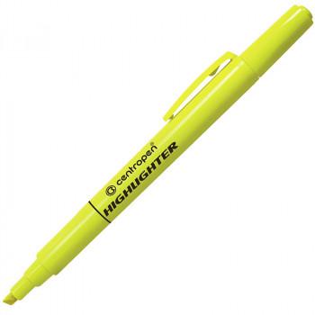 Текстмаркер флюоресцентный, желтый, 1-4 ..