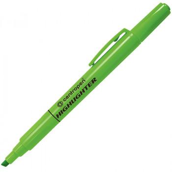 Текстмаркер флюоресцентный, зеленый, 1-4..