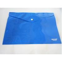 Папка-конверт на кнопке А4 250 мкм (ПЛОТНАЯ), непрозрачная, синяя ASMAR (12/240)