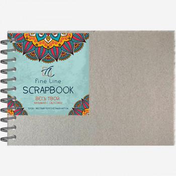 Блокнот для творчества SCRAPBOOK, А4, 10л., гребен..