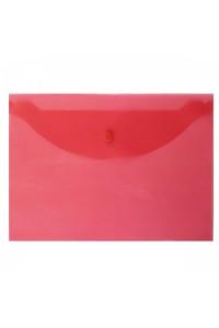 """Папка-конверт на кнопке """"Attomex"""" A4 (330x240 мм), 120 мкм, полупрозрачная красная (10)"""