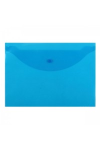 """Папка-конверт на кнопке """"Attomex"""" A4 (330x240 мм), 120 мкм, полупрозрачная синяя (10)"""