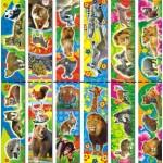 Магнит -закладка Дикие животные 001..