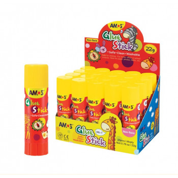 Клей-карандаш 22г. AMOS Kids (Корея) (20..