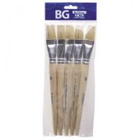 Кисть художественная щетина №24, плоская, пакет с европодвесом BG (5)