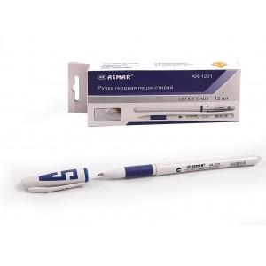 Ручка гелевая пиши-стирай, белый корпус термочувствительные (12)