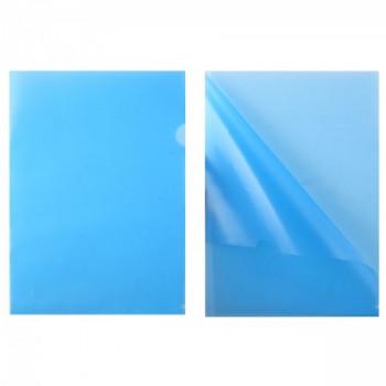 Папка-уголок 0,15мм плот ЕЕ-310 син п/пр..