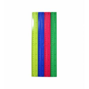 ЛИНЕЙКА ПЛАСТИКОВАЯ 30 см. яркие цвета