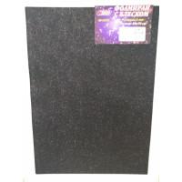 Фоамиран 2 мм с блеском 50см*70см чёрный ASMAR (10)