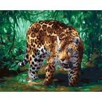 Картина по номерам (40х50) Леопард на ох..