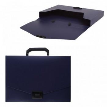 Портфель А4 1отд пласт син 35мм Attomex 3073400..