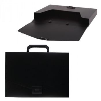 Портфель А4 1отд пласт черн 35мм Attomex 3073402..