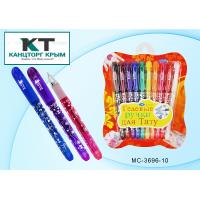 Ручка гел наб 10цв Basir для Тату+трафарет и накл  МС-3696-10/10/144 Китай